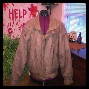 Wilsons brown men genuine leather bomber jacket